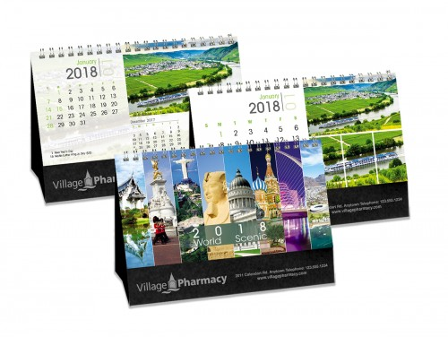 calendrier de bureau, double vue