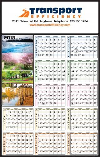 calendrier: une année