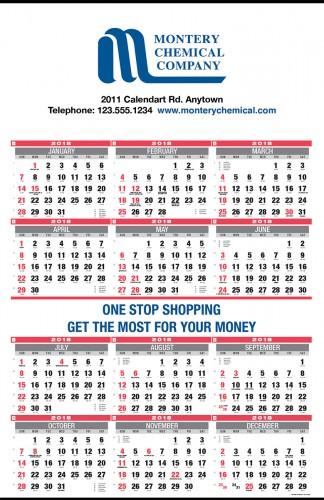 calendrier mural 12 mois