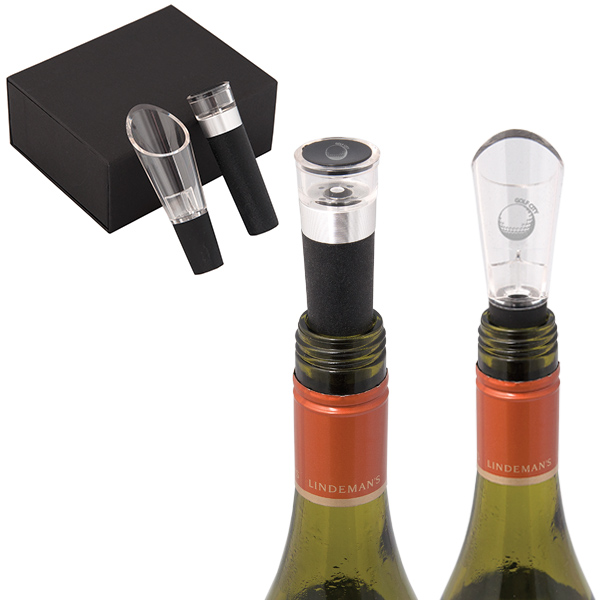 ensemble bouchon et bec verseur pour le vin
