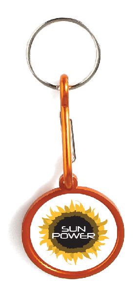 Porte-clés en aluminium avec crochet