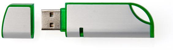 Clé USB - métal et plastique translucide