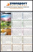 calendrier: une année en un coup d'oeil