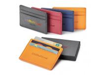 Porte-cartes avec IDFR en cuir véritable