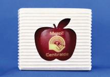 pomme avec logo : comestible