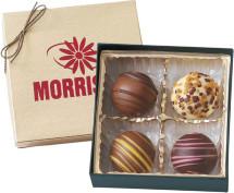 jolie boîte de 4 truffes