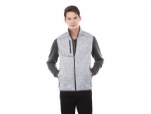 veste en tricot munie d'une poche intérieure pour téléphone
