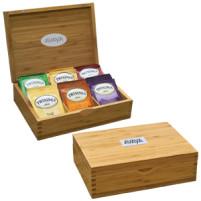 42 sachets de thé dans une boîte à thé en bambou