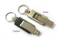 clé usb en métal, rotative