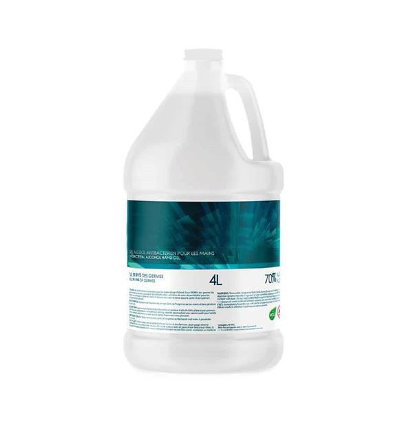 Bouteille de gel antibactérien 4L.