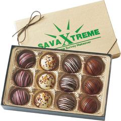 boîte cadeau de 12 délicieuses truffes