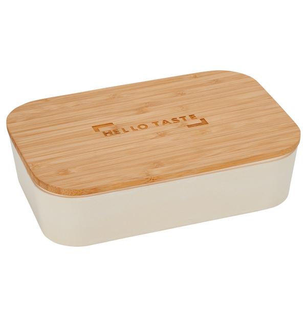 contenant à lunch avec planche à découper en bambou