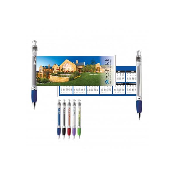 stylo avec bannière en plastique