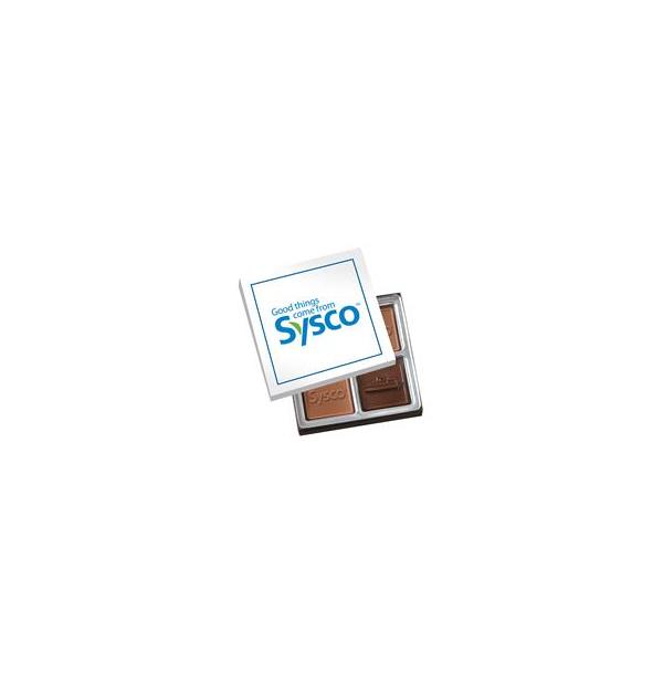 Boîte de chocolats carrés