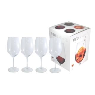 PJL-4955 Ensemble-cadeau de verres à vin blanc et rouge