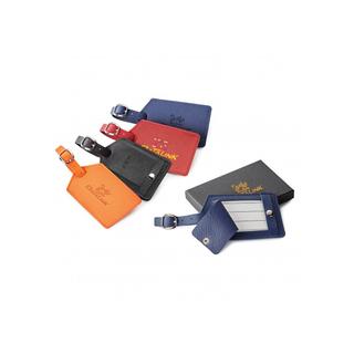 PJL-5187 Étiquette à bagage en cuir véritable