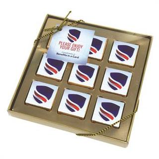 PJL-5331 boîte de neuf chocolats carrés