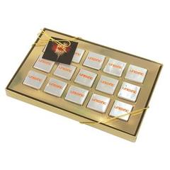 boîte de quinze chocolats carrés