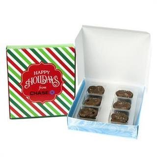 PJL-5338 boîte de bretzels au chocolat caramel au sel de mer