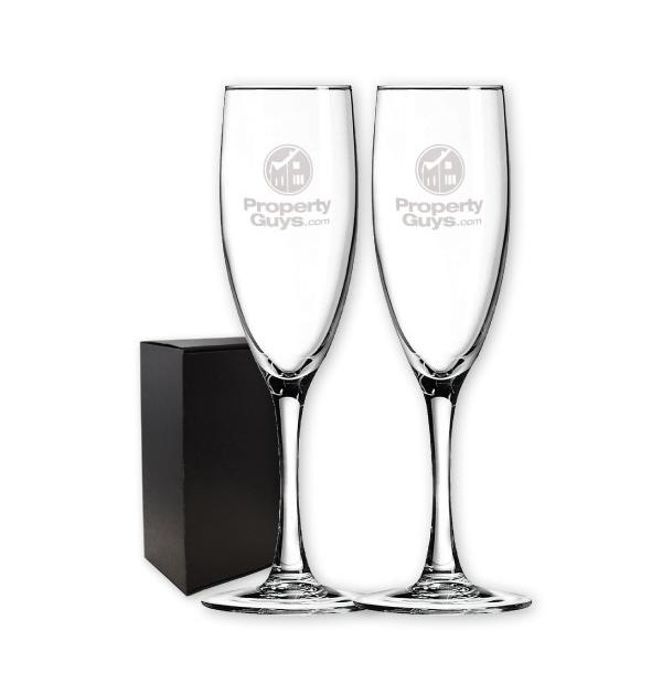 ensemble de deux flûtes à champagne