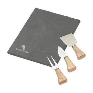PJL-5676 ensemble planche et couteaux à fromage