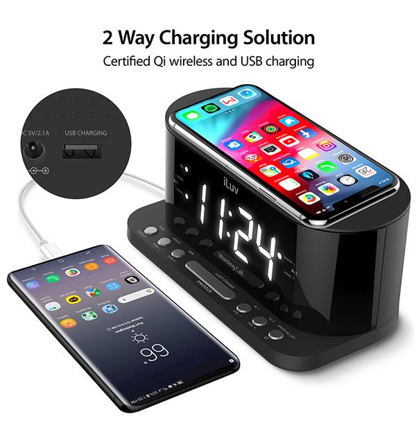 Réveil matin iLUV avec chargeur sans fil