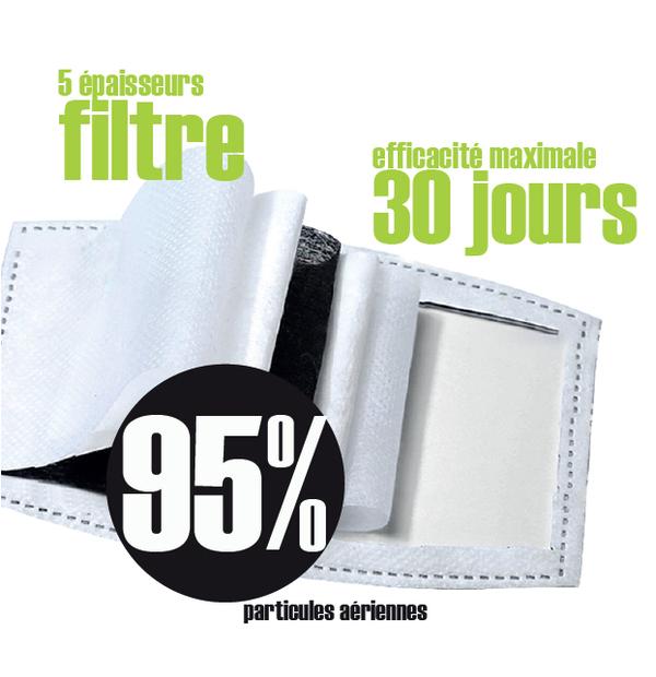 Masque lavable avec filtre