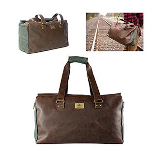PJL-6096 Sac de voyage en coton et cuir végétalien