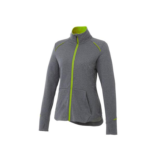 Veste en tricot avec fermeture éclair contraste