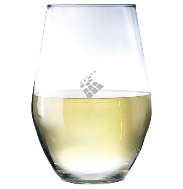 Ensemble de 2 verres à vin sans pied