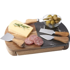 Ensemble à fromage en bois et marbre