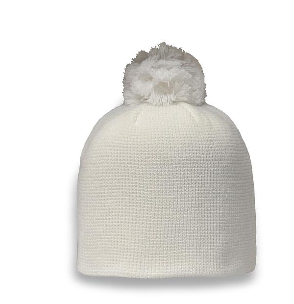 Tuque en tricot et pompon