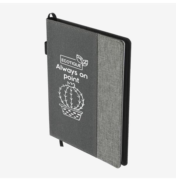 carnet rechargeable en cuir recyclé
