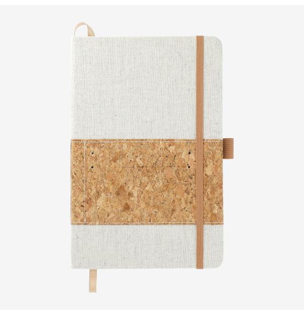 carnet en coton recyclé et liège