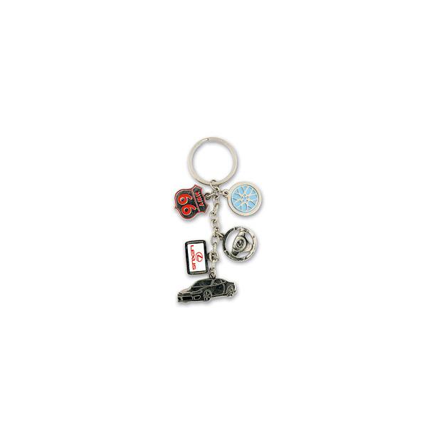 porte-clés à 5 breloques