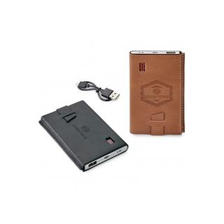 PJL-5839 Banque de puissance 4000 mah dans une pochette en cuir