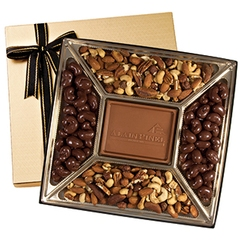 boîte cadeau avec pièce centrale personnalisée