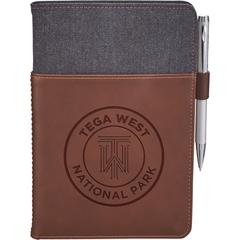 Cahier de notes en cuir