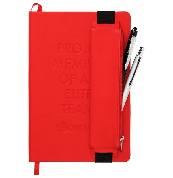 Carnet de note avec étui à stylo