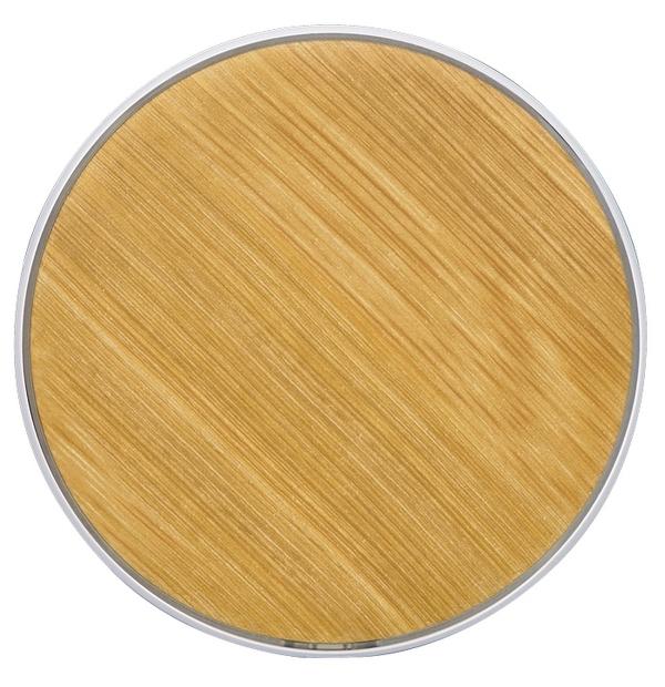 Chargeur sans fil à motifs de bambou