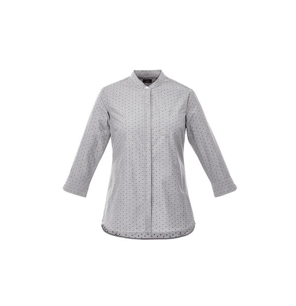 chemise pour femme manche trois-quart à pois
