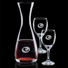 décanteur à vin avec 2 coupes