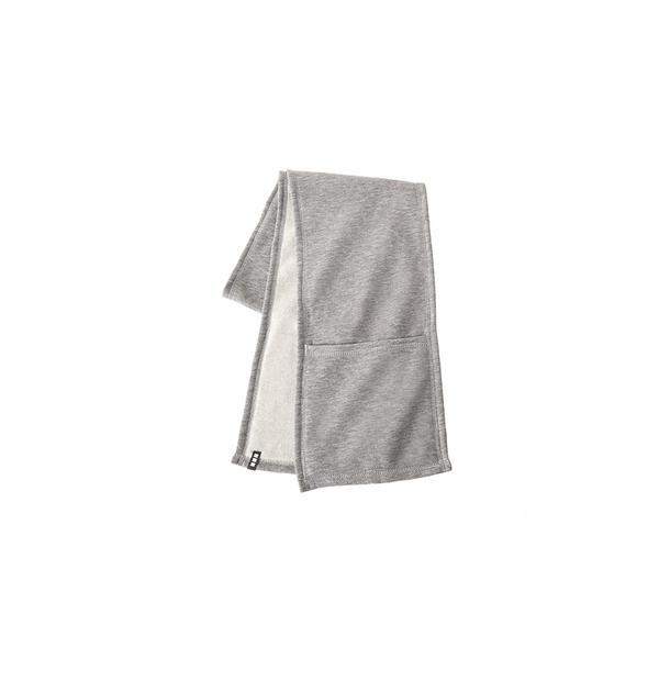 écharpe en tricot extensible avec réchauffe-mains