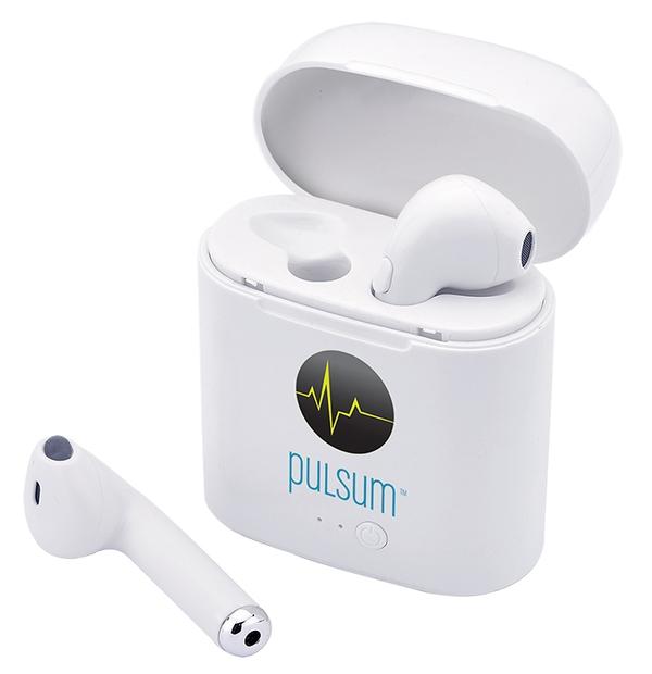 Écouteurs Bluetooth avec chargeur intégré dans l'étui