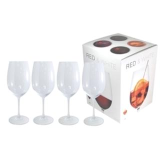PI-4955 Ensemble-cadeau de verres à vin blanc et rouge