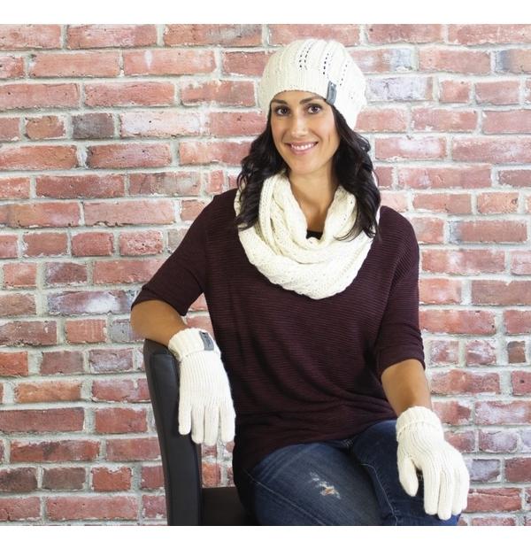Ensemble cadeau tuque, foulard
