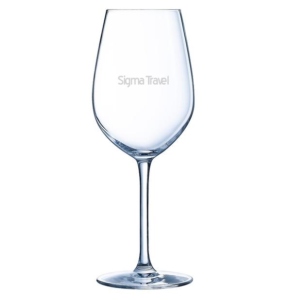 Ensemble de 2 verres à vin en chrystalline