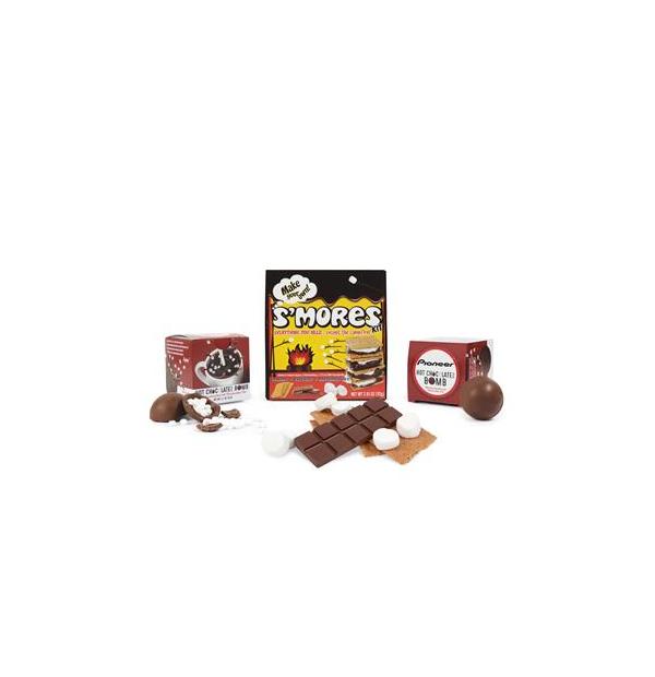 Ensemble gourmand smores et bombe chocolaté
