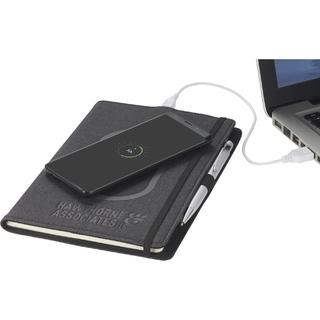 PJL-6085 journal avec stylo et chargeur de cellulaire
