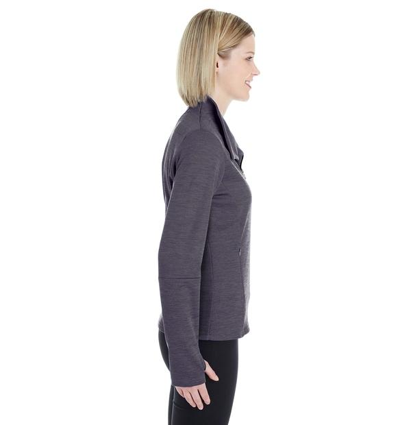 Manteau en molleton à motif mélangé